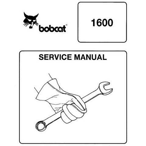 Bobcat 1600 Wheel Loader Repair Service Manual - 6566906