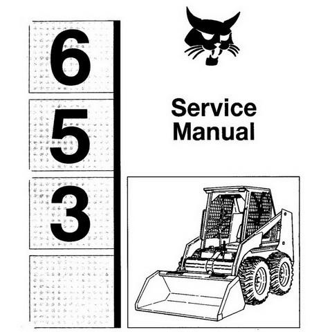 Bobcat 653 Skid-Steer Loader Repair Service Manual - 6724493