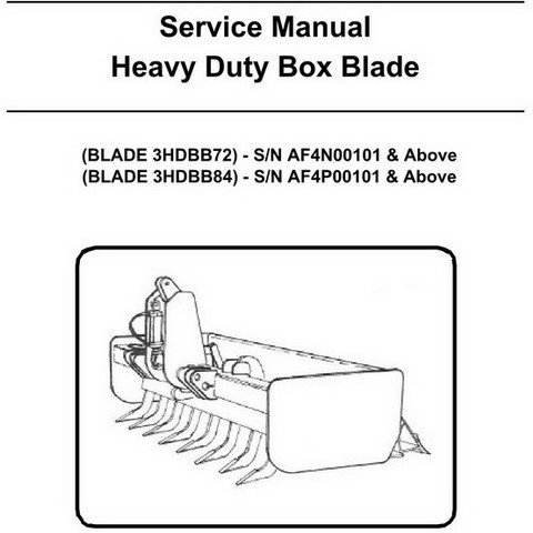 Bobcat Heavy Duty Box Blade Workshop Repair Service Manual - 6987242