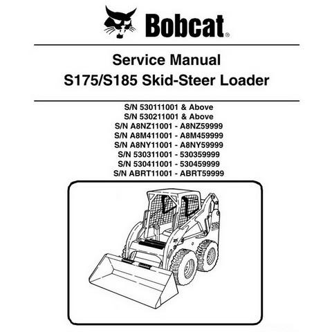 Bobcat S175 / S185 Skid-Steer Loader Repair Service Manual - 6904132