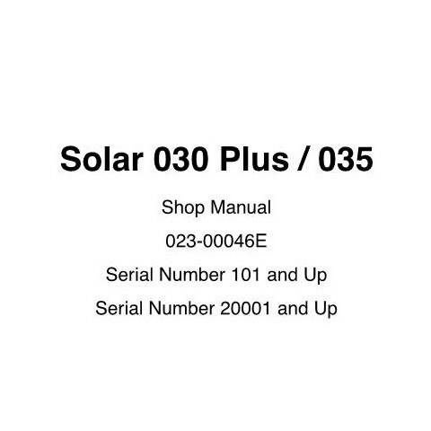 Daewoo Solar 030 Plus / 035 Track Excavator Shop Manual