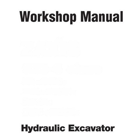 Hitachi EX550-5, EX550LC-5, EX600H-5 & EX600LCH-5 Crawler Hydraulic Excavator Workshop Manual