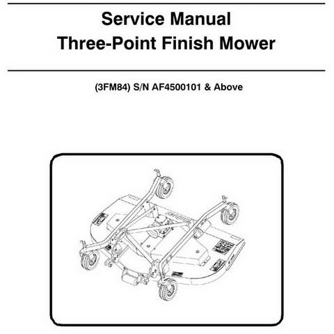Bobcat 3FM84 Three-Point Finish Mower Workshop Repair Service Manual - 6987245