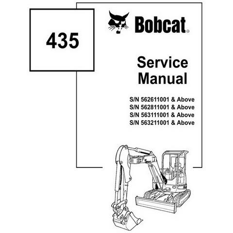 Bobcat 435 Compact Excavator Repair Service Manual - 6902331