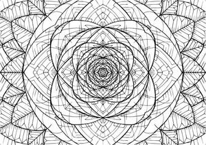 Vesica Rose Sacred Geometry Coloring Mandala