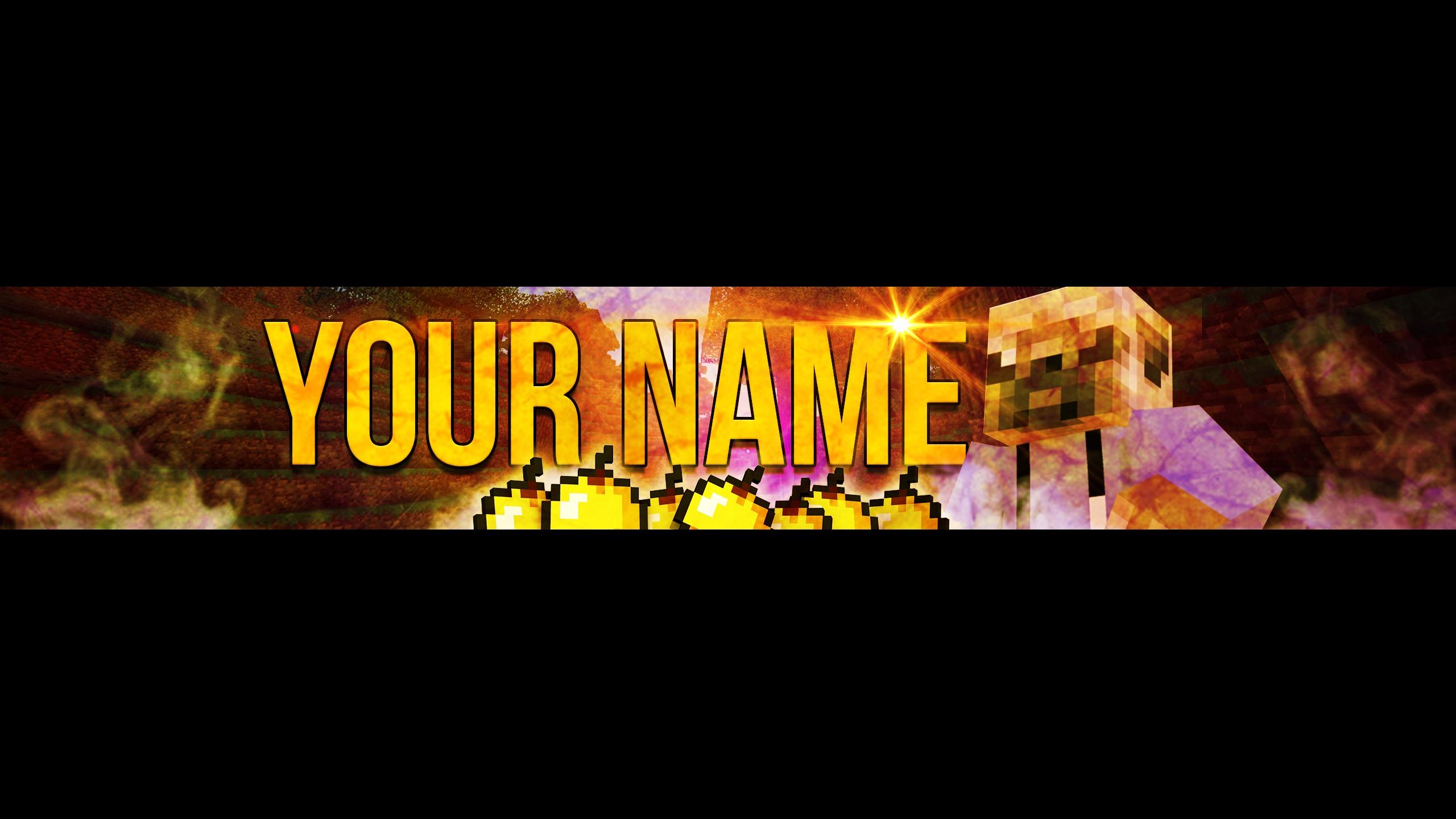 Minecraft Channel Art Template
