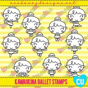 Oh_KawaiiKina_Ballet_Stamps