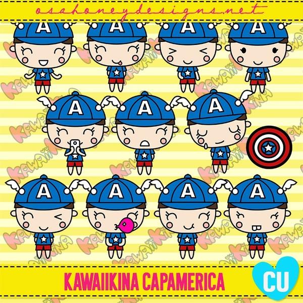 Oh_KawaiiKina_CapAmerica