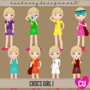 Crocs Girl 1