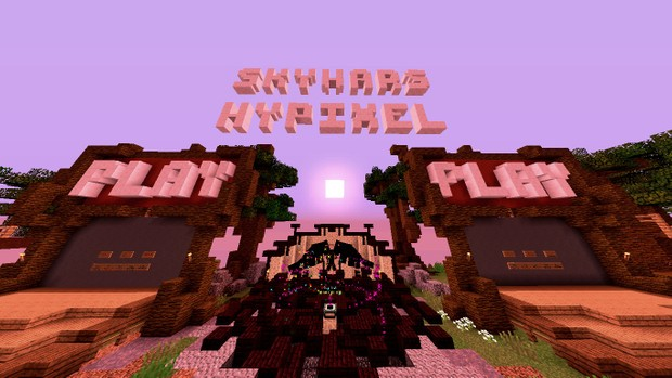 Minecraft Hypixel Skywars Lobby Filtered Photo!