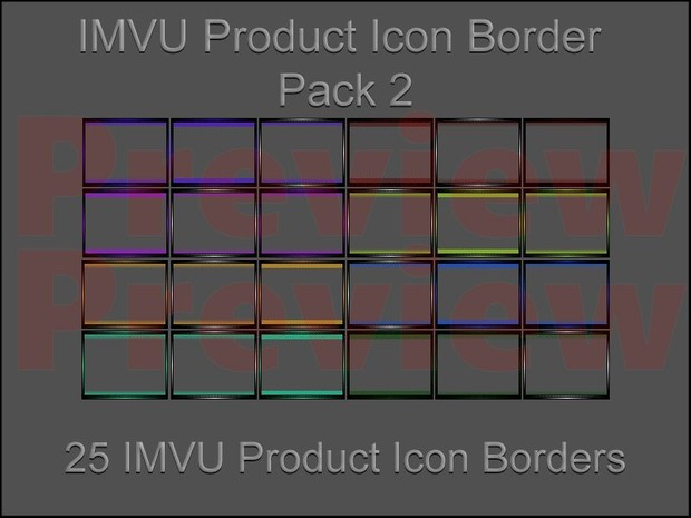 IMVU Product Icon Border Pack 2