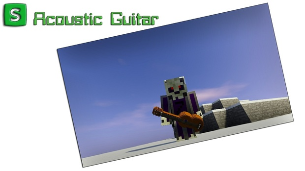 Minecraft 3d Resource Pack Acoustic Guitar