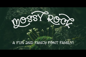 Mossy Rock: a fun font with fancy alternates!