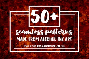 50+ Seamless Repeating Alcohol Ink Patterns