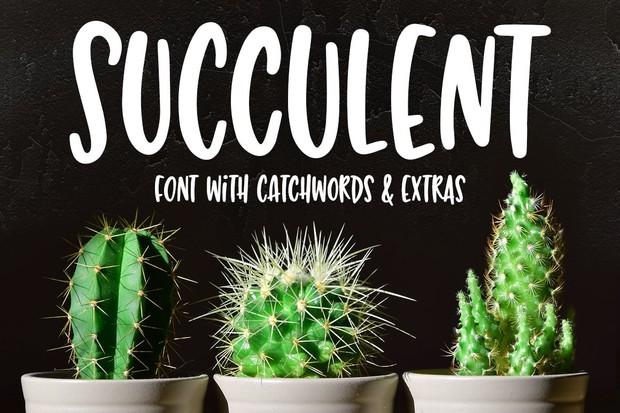 Succulent: a hand-lettered font!