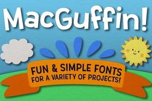 MacGuffin: a fun sans-serif font set!