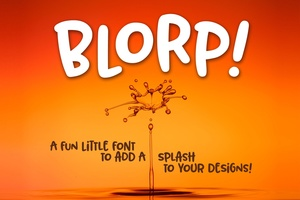 BLORP! A fun, weird little font!