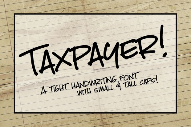 Taxpayer: my own handwriting font!