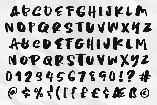 Chaotic Neutral: a rough and ready font!