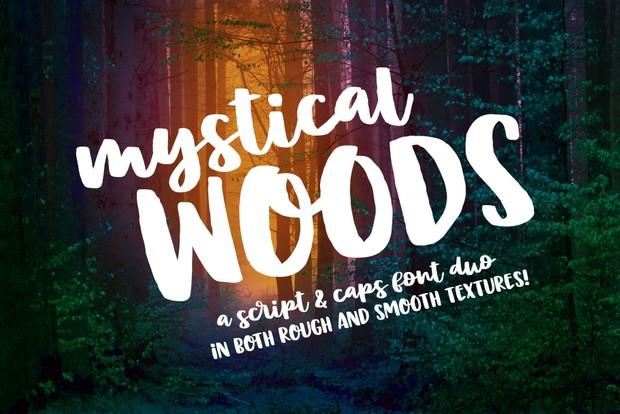 Mystical Woods - a script and caps font duo!