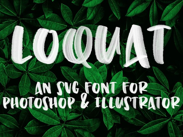 Loquat: an OpenType SVG font for Photoshop and Illustrator
