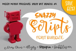 Billy Bot Bundle #4: Snazzy Scripts Font Bundle!