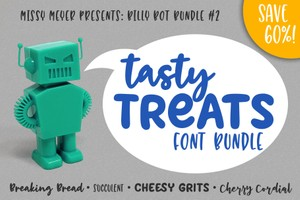 Billy Bot Bundle #2: Tasty Treats Font Bundle!