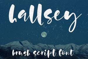 Hallsey: all-lowercase brush script font!