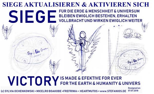 Siege & Victory aktualisieren sich. Kunstpostkarte & Poster bis A4 Poster