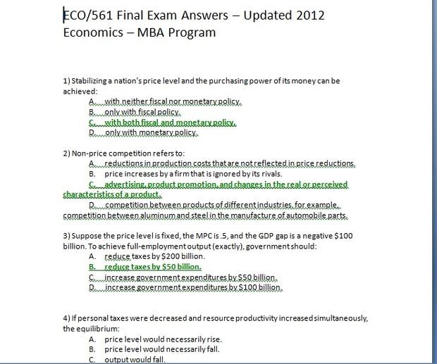 ECO561 final exam