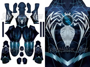Reverse Flash/Zoom Symbiote Spiderman Pattern