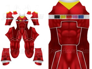 Custom Power Rangers In Space - Red Ranger pattern file