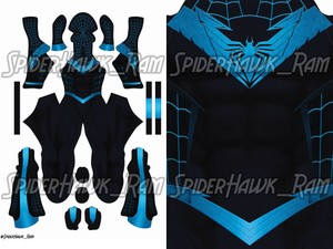 Nightwing Spiderman Pattern (Web Mask ver.)