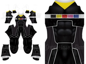 Custom Power Rangers In Space - Black Ranger pattern file