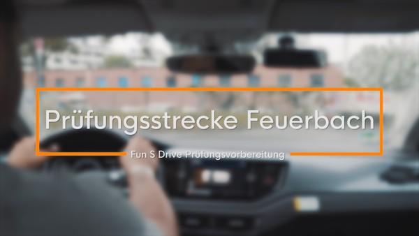 Prüfungsvorbereitung: Prüfungsstrecke in Stuttgart-Feuerbach