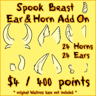 Spook Beast EARS & HORNS Add On