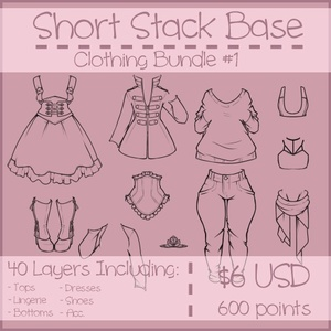Short Stack Clothing Bundle #1