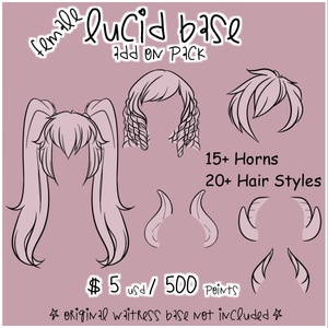 Lucid Add On Pack - Hair and Horns
