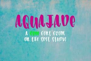 Aqua Jade - A PWYW Free Font!