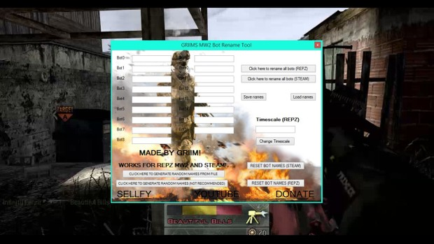 MW2 Bot Renamer Steam,RepZ,React