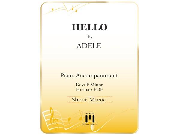 Hello - Piano Accompaniment