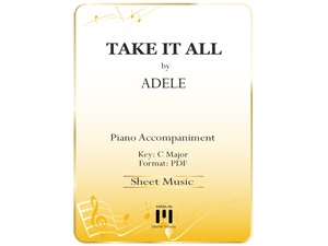 Take It All - Piano Accompaniment