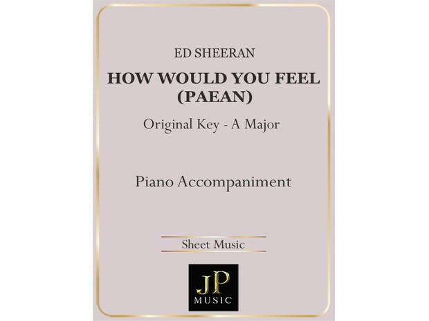 How Would You Feel (Paean) - Piano Accompaniment