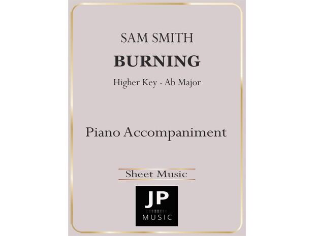 Burning [Higher Key] - Piano Accompaniment