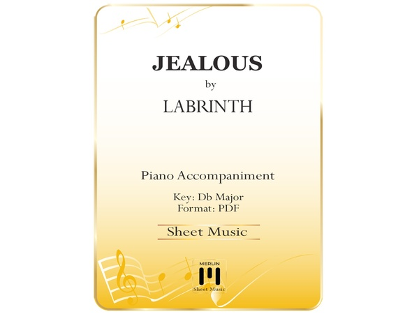 Jealous - Piano Accompaniment