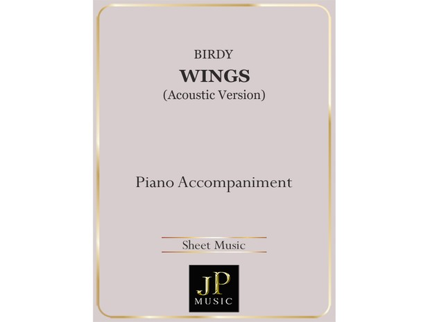 Wings (Acoustic Version) - Piano Accompaniment