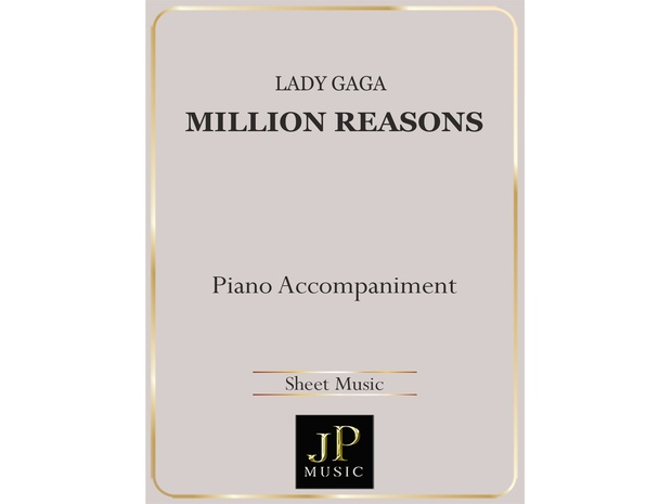 Million Reasons - Piano Accompaniment