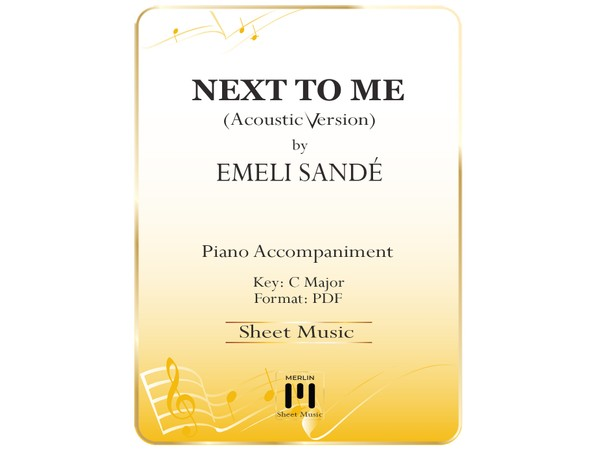 Next To Me (Acoustic) - Piano Accompaniment
