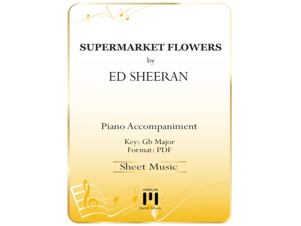 Supermarket Flowers - Piano Accompaniment