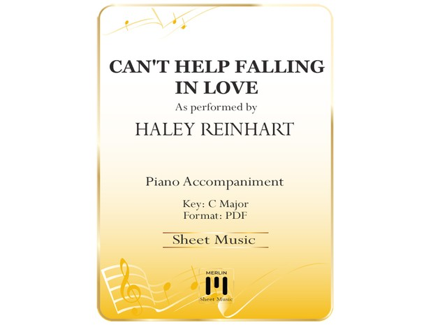 Cant Help Falling In Love Piano Accompaniment